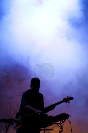 Guitarist on stage