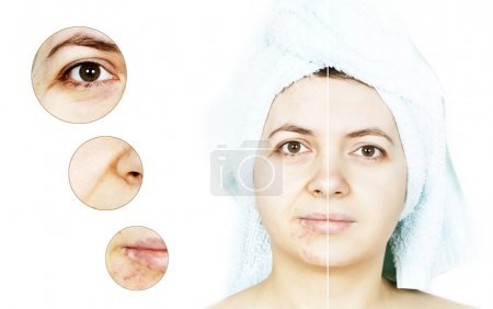 Beauty concept on womens isolated face