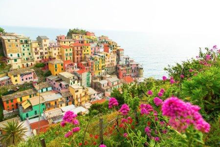 Manarola village on the Cinque Terre coast.