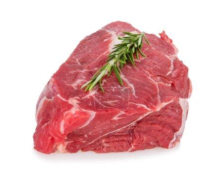 Photo pour Délicieux steak de boeuf sur fond blanc, gros plan - image libre de droit