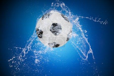 Water splash with sport ball