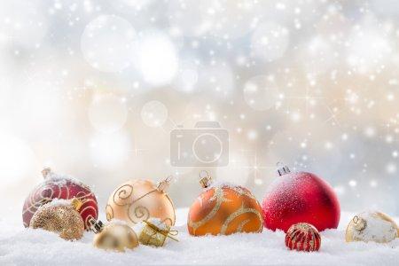 Photo pour Résumé Fond de Noël, gros plan . - image libre de droit