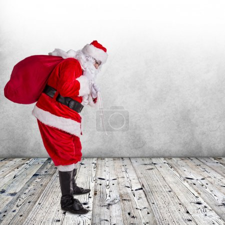 Photo for Photo of Santa Claus with eyeglasses. - Royalty Free Image