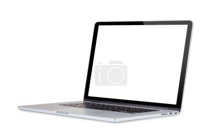 Photo pour Ordinateur portable isolé sur fond blanc. - image libre de droit
