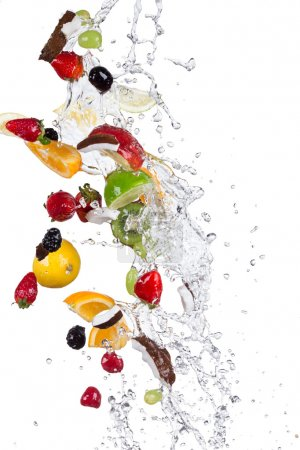 Photo for Fresh fruit with water splash - Royalty Free Image