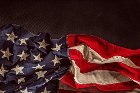 Photo pour Drapeau américain grunge, gros plan. - image libre de droit