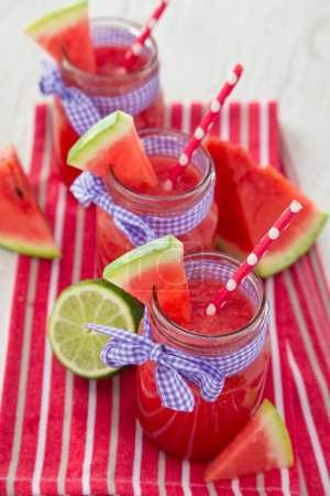 Glasses of fresh,home-made  fresh juice