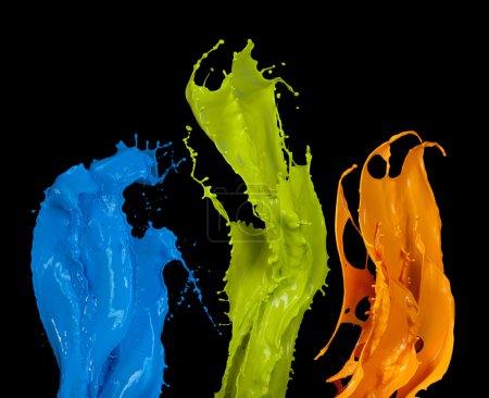 Colored splashes in stripe shape