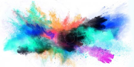 Colored dust powder.