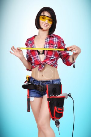 girl with tape measure