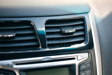 Air conditioner. the air flow inside the car. detail interior of car