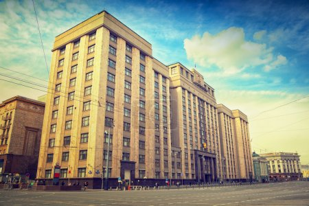 Photo pour Le bâtiment de la Douma d'Etat à Moscou - image libre de droit