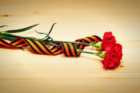 Carnation flowers and George Ribbon