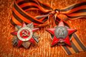 Reihenfolge der rote Stern Jubiläums Medaille Weltkrieg. George-Ribbon