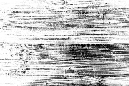 Wooden surface with scratches in black and white. Texture for design and background