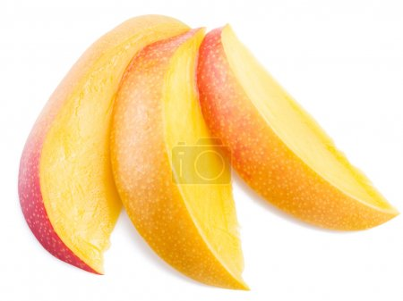 Mango slices. Isolated on a white background.
