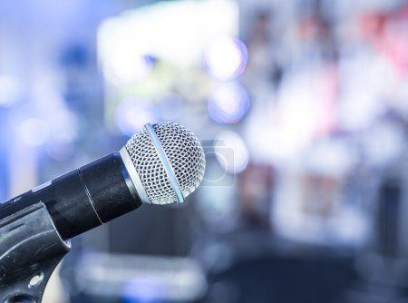 Closeup shot of microphone.