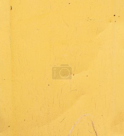 Metal sheet painted in yellow.