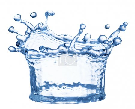 Photo for Splash of water in the shape of crown. File contains clipping paths. - Royalty Free Image
