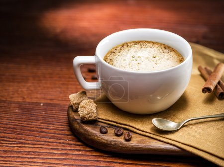 Cup of cappuccino.