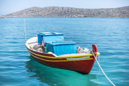 Fishing boats on the Elounda coast of The Crete.