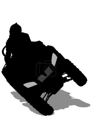 ATV races on white background