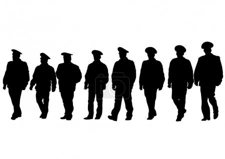 Illustration pour Les gens de la police spéciale sur fond blanc - image libre de droit