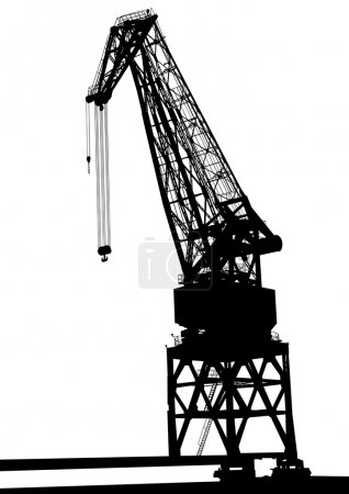 Cargo crane on white background
