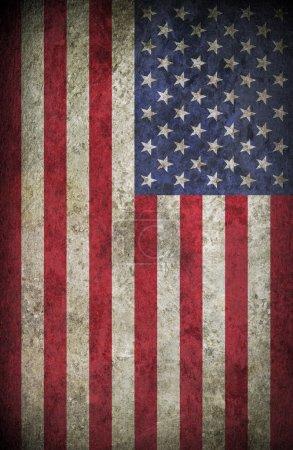 Photo pour Vintage américain, drapeau des États-Unis comme fond ou texture - image libre de droit