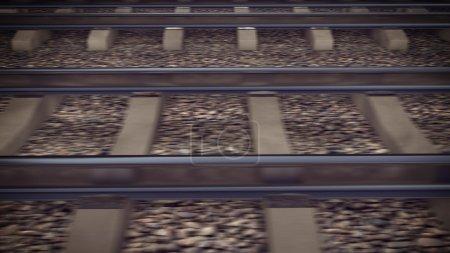 The railways for a train