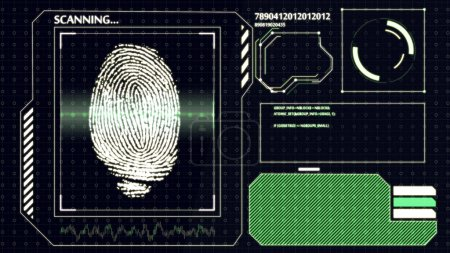 Scanning human fingerprint
