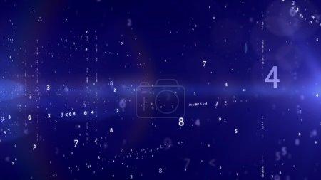 Photo pour Contexte de la technologie moderne avec code binaire - image libre de droit