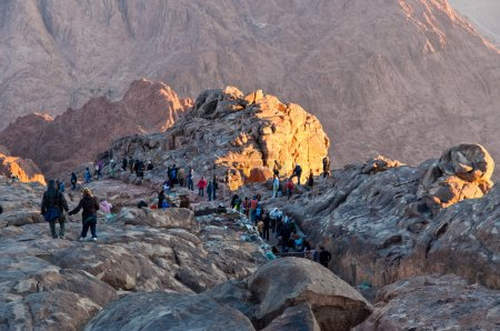 Pilgrims way down from the Holy Mount Sinai, Egypt