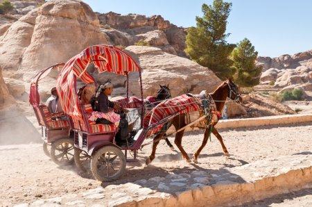 Horse cart in Petra, Jordan