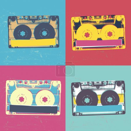 retro popart music seamless background.