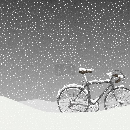 Snow Covered Bicycle