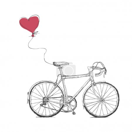 Bicycle and Heart Balloon