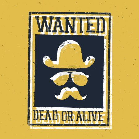 """Poster """"Wanted dead or alive..."""""""