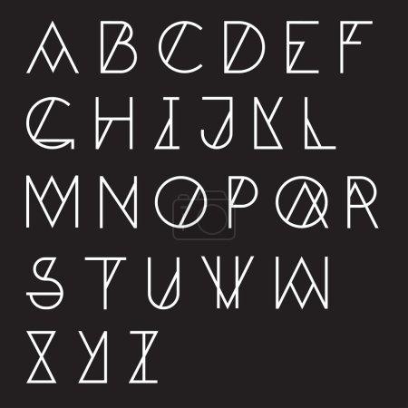 Illustration pour Jeu de l'alphabet moderne d'abc géométrique - image libre de droit