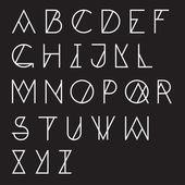 Modern geometric abc alphabet set