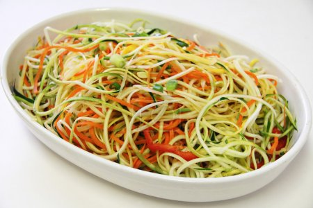 Vegetable noodles in a bowl