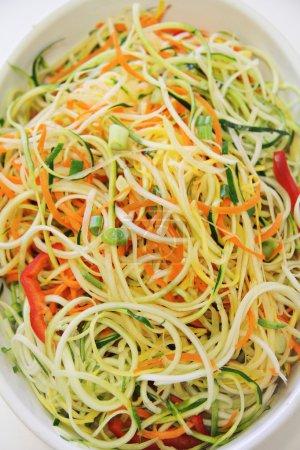 Vegetable noodles  in plain