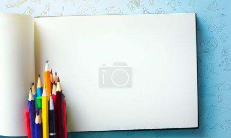 Photo for Art welcome Back To School Banner; School Supplies Tumbl - Royalty Free Image