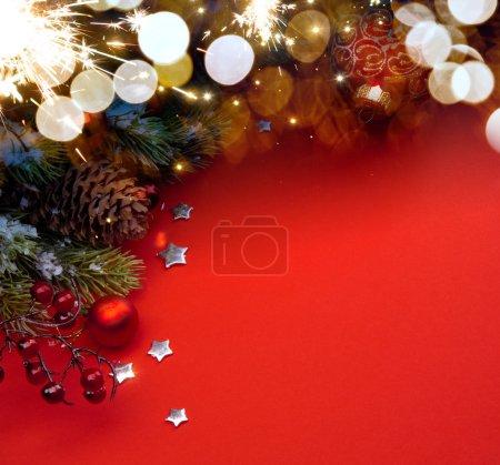 Photo for Art Christmas holidays background - Royalty Free Image
