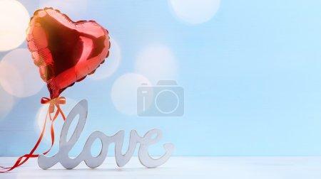 Foto de Amor corazones de San Valentín; Fondo del día de San Valentín - Imagen libre de derechos