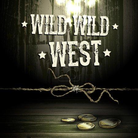 Illustration pour Thème WILD WEST, fond abstrait - image libre de droit
