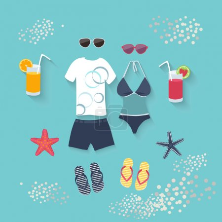 Summer seaside holiday or tropical travel