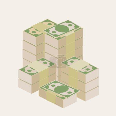 Illustration pour Plusieurs piles d'argent - image libre de droit