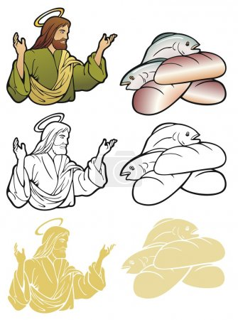Loaves And Fishes And Jesus