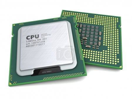 Photo for 3d illustration of generic modern cpu over white background - Royalty Free Image